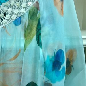 Blumarine Dresses - Blumarine silk sheer floral short dress